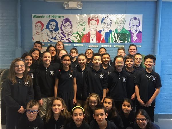 Celebrating Women's History Month at Jefferson School - Thank you Ms. Ventress and our 4th/5th grade students for this beautiful reflection of history!