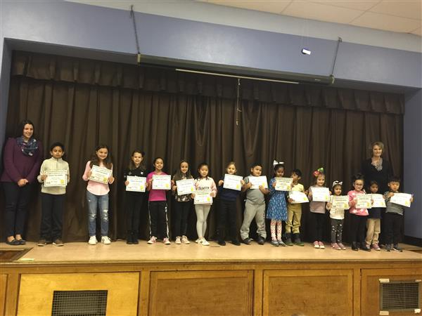 Responsibility Awards!  Congratulations to this special group of students that demonstrated responsibility!  Roosevelt School is proud of you!